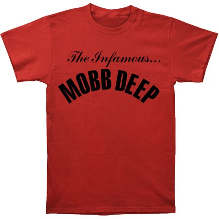 Mobb Deep Men's  Infamous On Red T-shirt Red (Mobb Deep Put Them In Their Place)