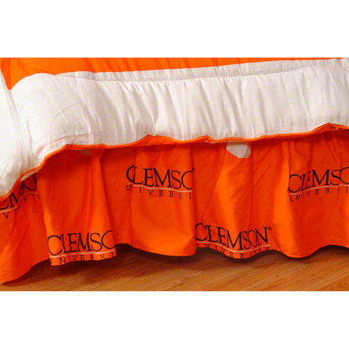 NCAA - Clemson Tigers Printed Bedskirt- Twin Bed