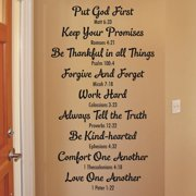Belvedere Designs LLC Bible Family Rules Wall Quotes  Decal