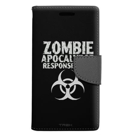Alcatel Pop 4 Wallet Case - Zombie Apocalypse Response Team Black Case