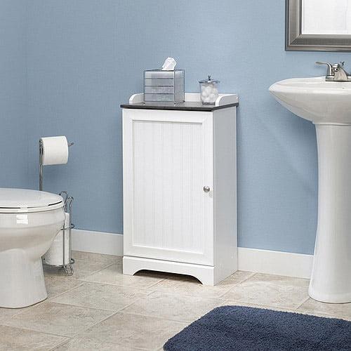 sauder caraway floor cabinet, soft white - walmart