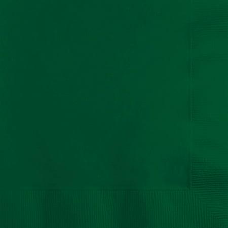 Hunter Green Beverage Napkins, 50-Pack