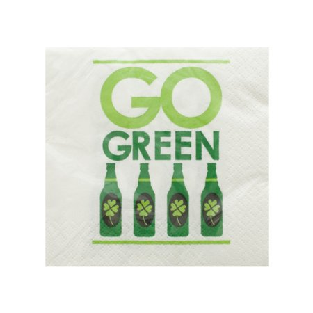 Go Green Irish Cocktail Napkins Set (Irish Napkins)