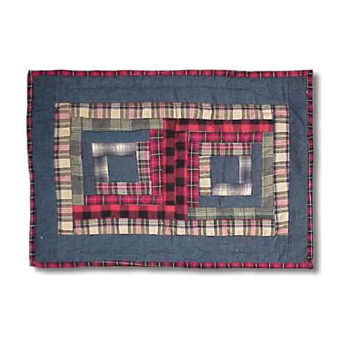 Patch Magic Red Log Cabin Placemat (Set of 4)