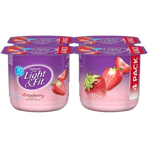 Dannon Light & Fit Blended Strawberry Nonfat Yogurt, 4 ct, 21.2 oz