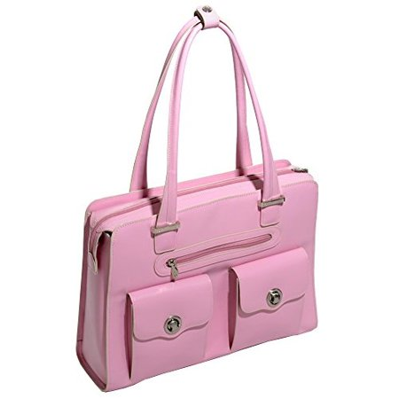 Fly-Through Womens Briefcase Tote, Leather, Small, Pink - VERONA | McKlein - 96629 - image 1 de 1