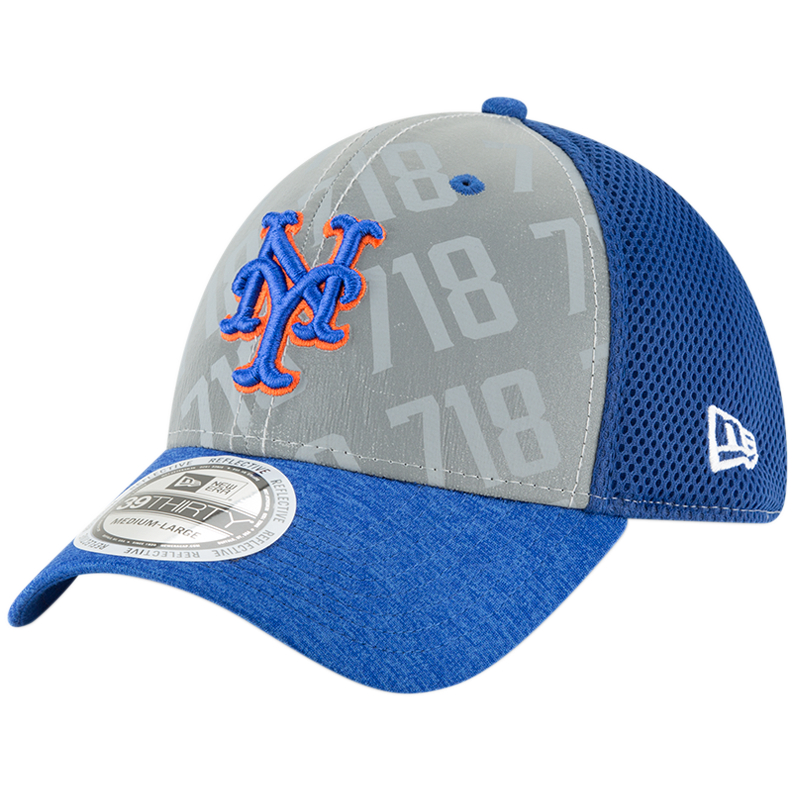 New York Mets New Era Code Flect 39THIRTY Flex Hat - Gray