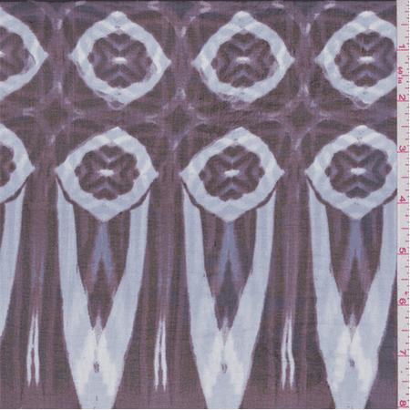 Purple Multi Print Silk Chiffon, Fabric Sold By the Yard