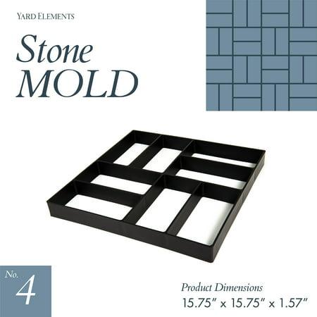 4 Piece Concrete (Concrete Stepping Stone Molds | Reusable DIY Pavers | Mold 4 )