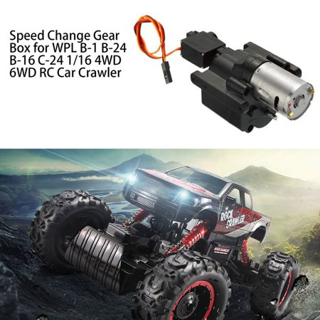 Speed Change Gear Box for WPL B-1 B-24 B-16 C-24 1/16 4WD 6WD RC Car Crawler 10km/h-30km/h Remote Control Parts & Accessory - image 4 de 10