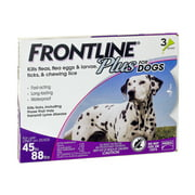 Frontline Plus Flea and Tick Treatment for Large Dogs, 3 Doses