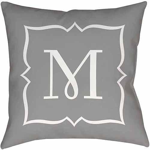 MWW, Inc. Thumbprintz Silver Script II Monogram Decorative Pillows