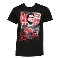 Batman V Superman Movie Grunge Poster TShirt-Small