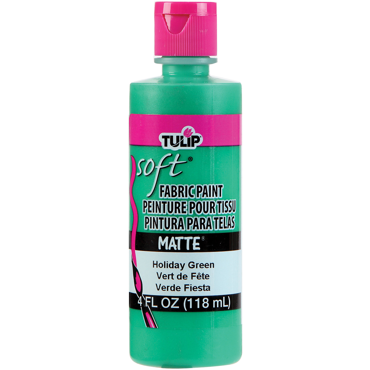 Tulip Soft Fabric Paint 4oz-Holiday Green Matte
