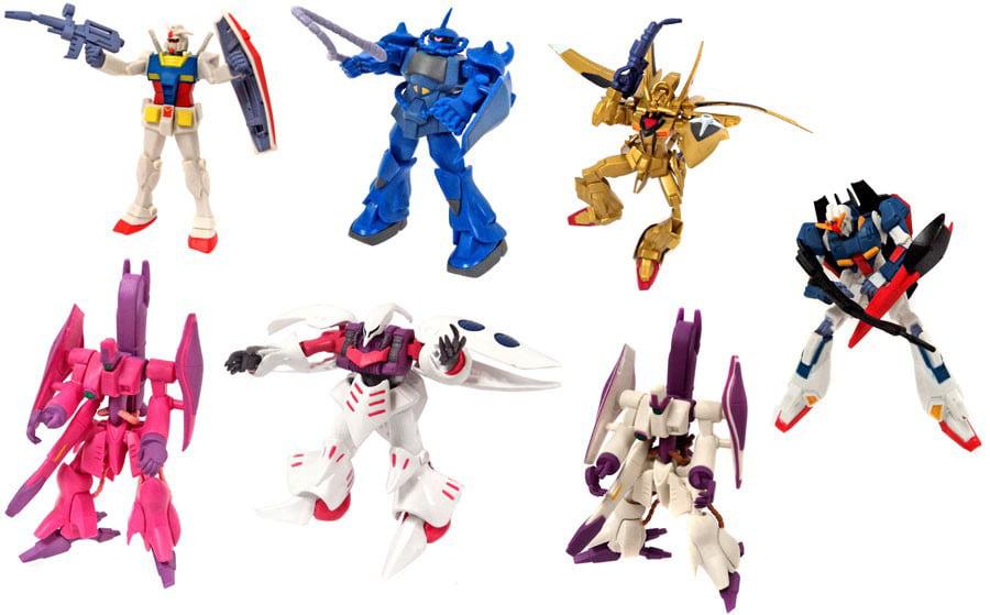 Gundam Gashapan DX4 Set of 7 Mini Figures by