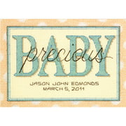 "Dimensions ""Sweet Baby Birth Record"" Mini Counted Cross Stitch Kit, 14-count, 7"" x 5"""