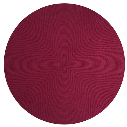 "Alpine 88"" x 112"" Braided Rug Burgundy Solid by Pan Overseas LLC"
