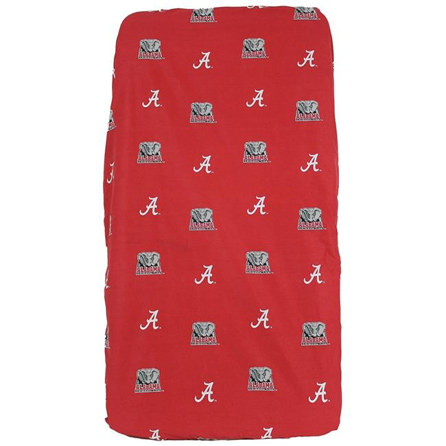 College Covers ALACSFSWPR Alabama Crimson Tide Baby Crib Fitted Sheet Pair, White