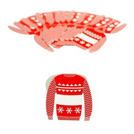 Ugly Sweater Place Cards - Ugly Sweater Pics