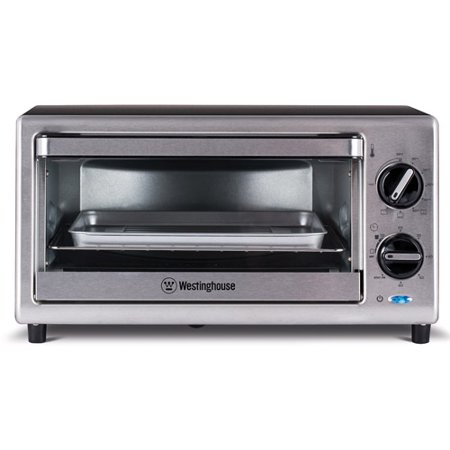 Westinghouse 4 Slice Toaster Oven, 10-Liter, Stainless Steel WTO2010S