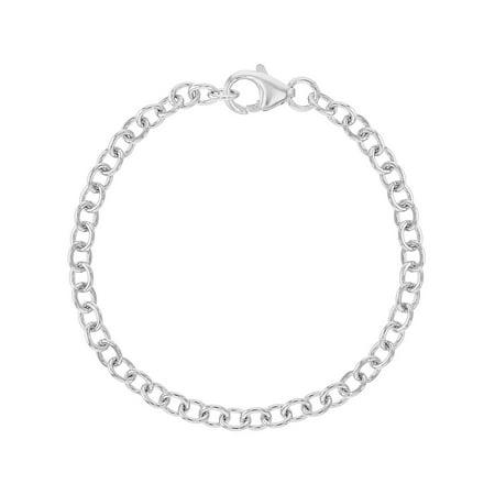 925 Sterling Silver Charm Bracelet for Girls Kids Children - Charm Bracelets For Kids