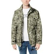 Michael Kors Mens Camouflage Field Jacket XX-Large Olive