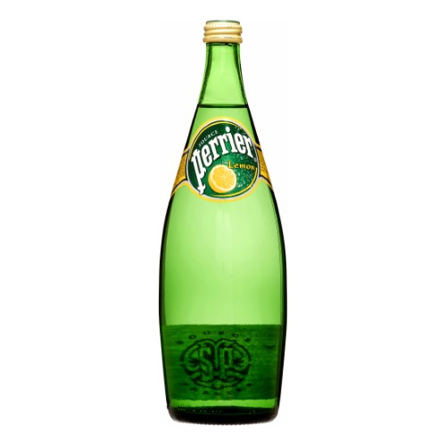 Perrier Sparkling Natural Mineral Water, Lemon, 25.3 Fl Oz, 12 Count by Nestle Waters North America