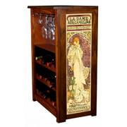 """""""La Dame Aux Camelias Mucha"""" Wine Cabinet"""