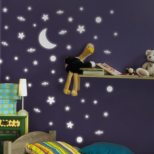 Home Decor Line Deep Space Glow in the Dark Wall Stickers by Generic