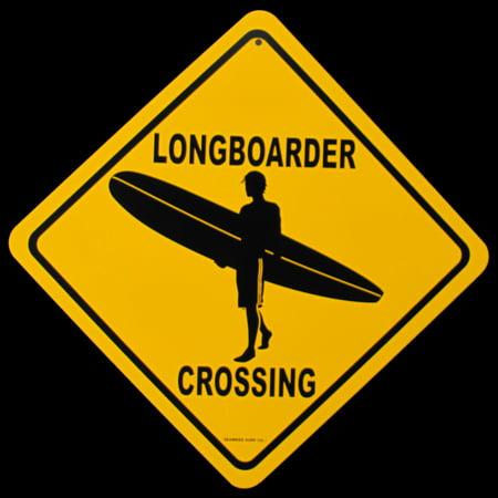 Metal Longboarder Crossing Longboarder XING Sign Bar/Pub/Surf Shop ...