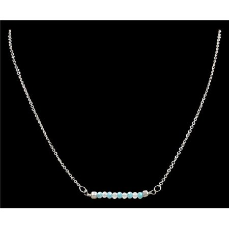 M&F Western DN1100SBMT Antique Silver Short Necklace with Turquoise
