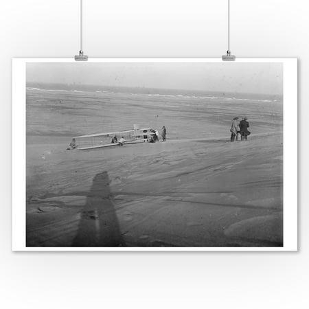 Hawk Glider (Glider at Kitty Hawk Photograph (9x12 Art Print, Wall Decor Travel Poster))