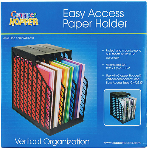 Cropper Hopper Easy Access Paper Holder, Black
