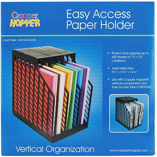 Cropper Hopper Easy Access Paper Holder, Black