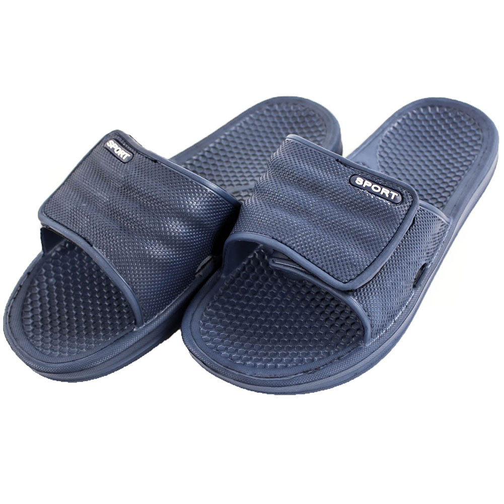 Sport Men's Adjustable Hook and Loop Closure Slip On Sandals