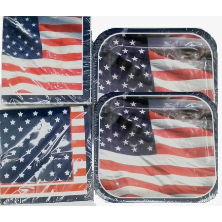 - American Flag Napkins and Lunch Plates, Show your guest that you are PROUD to be American and get your Patriotic napkins and plates today for your 4th of.., By Momentum Brands