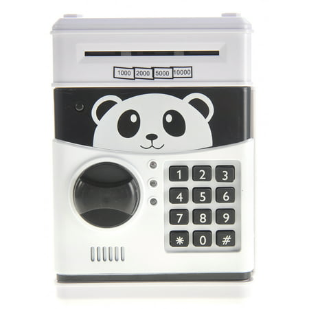 Bisontec Cartoon Panda Electronic Password Protected Piggy Coin Bank (Gamer Piggy Bank)