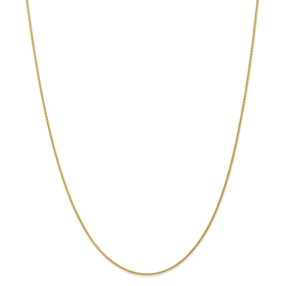 14k Yellow Gold 1.2mm Round Wheat Chain Bracelet - Length: 6 to 10