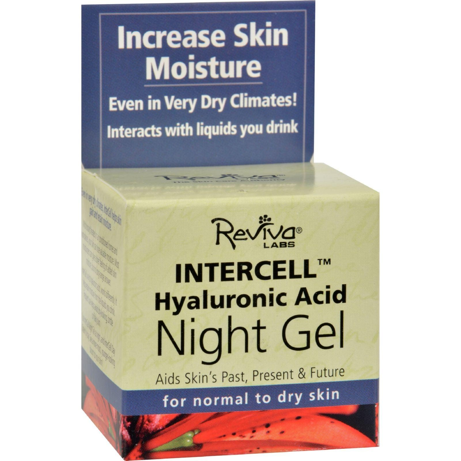 Labs Intercell Night Gel with Hyaluronic Acid, 1.25 Ounce By Reviva Sensai Cellular Performance Extra Intensive Cream 1.4oz
