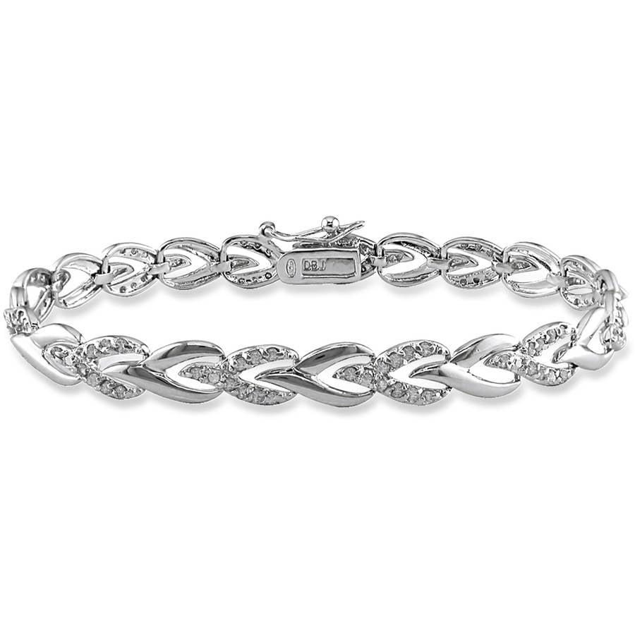 """Miabella 1 Carat T.W. Diamond Sterling Silver Tennis Bracelet, 7"""" by Generic"""