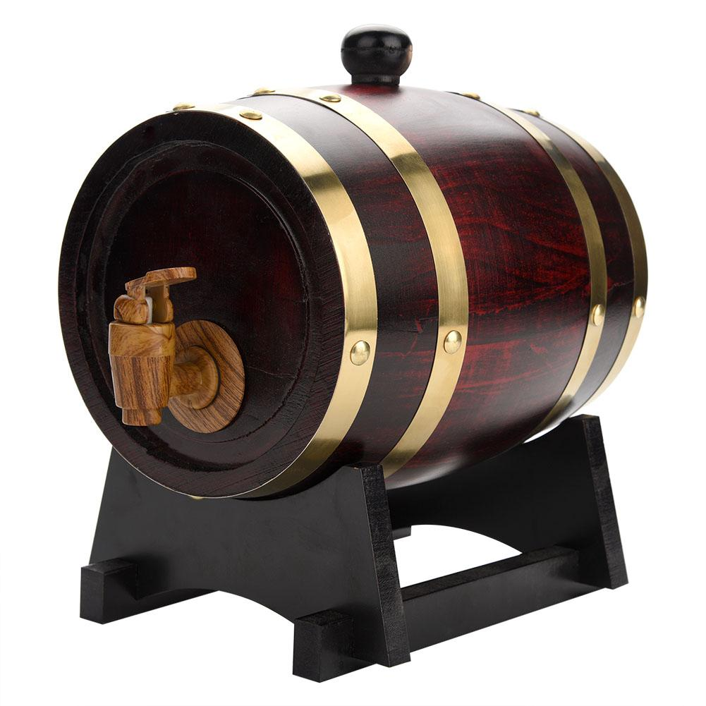 Vintage Wood Oak,Oak Barrel,1.5L Vintage Wood Oak Timber Wine Barrel for Beer Whiskey Rum Port