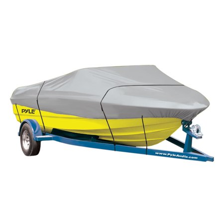 PYLE PCVHB221 - Armor Shield Trailer Guard Boat Cover 14'-16'L Beam Width to 90'' Aluminum Bass Boats, V-Hull, & Tri-Hull Runabouts Outboards & -
