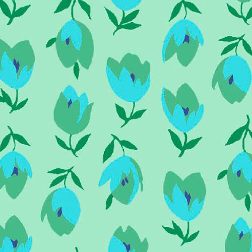 """Springs Creative Rosalinda Up And Down Tulips 43"""" wide Fabric by the Yard"""