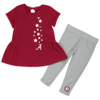 "Alabama Crimson Tide Girls 2 pc. ""Shot Put"" Dress and Leggings Set"
