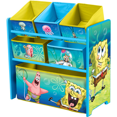 Nickelodeon SpongeBob SquarePants Multi-Bin Toy Organizer