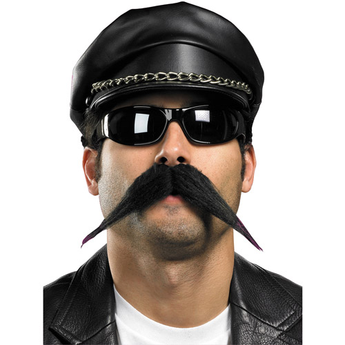 Biker Style Moustache Halloween Accessory
