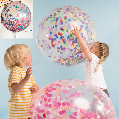 Clear Latex Giant Confetti Balloons Wedding Birthday Party Supplies