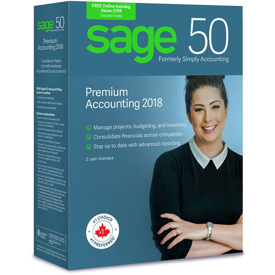 Sage 50 Premium Accounting 2018 (Bilingual)