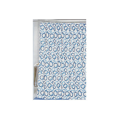 Carnation Home Fashions ''Circles'' Shower Curtain