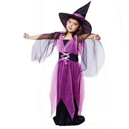 Toddler Baby Girls Halloween Clothes Costume Dress Party Dresses+Hat Outfit - Nueva Orleans Halloween